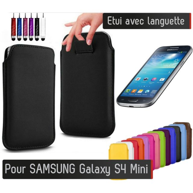 shot etui pull up samsung galaxy s4 mini blanc pas. Black Bedroom Furniture Sets. Home Design Ideas