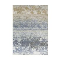 Allotapis - Tapis plat vintage en polyester bleu Sophia