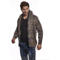 Beststyle - Gilet homme chiné marron
