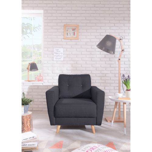 bobochic fauteuil scandi style scandinave noir pas cher achat vente fauteuils. Black Bedroom Furniture Sets. Home Design Ideas