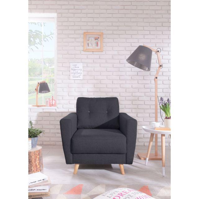 bobochic fauteuil scandi style scandinave noir pas cher achat vente fauteuils. Black Bedroom Furniture Sets. Home Design Ideas