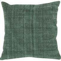 Athezza - Coussin 100 % coton délavé 45x45 cm vert