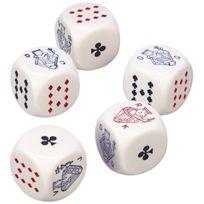 Piatnik - Lot De 5 DÉS De Poker 22 Mm