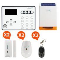 ATLANTIC'S - ATEOS - Alarme de maison sans fil GSM Kit 3B MD-326R