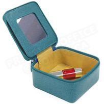 Volumica - Boîte à bijoux cuir Bleu-turquoise Beaubourg