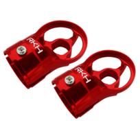 RAKONHELI - Support de moteur alu rouge Pod 250 - Rakon Heli