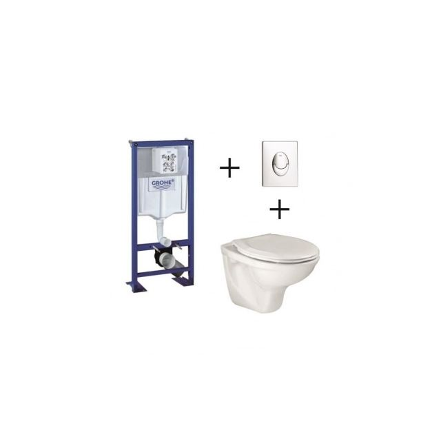 grohe pack complet wc suspendu bati support 113 cm. Black Bedroom Furniture Sets. Home Design Ideas