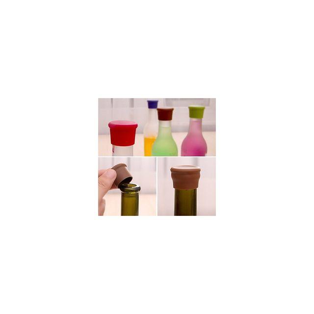 Alpexe Bouchon de bouteille Biere et Vin également en Silicone étanche pour rebouchage ponctuel Etanche