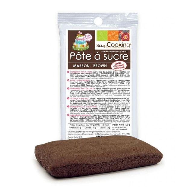 Scrapcooking Pâte à sucre marron 100 g