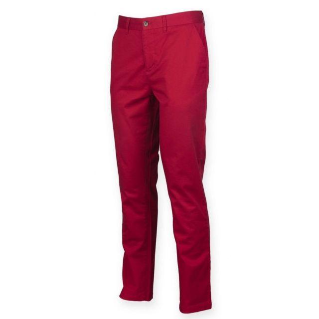 d82474ca4559a Fashion Cuir - Pantalon Chino leger stretch Taille Homme - 42 ...