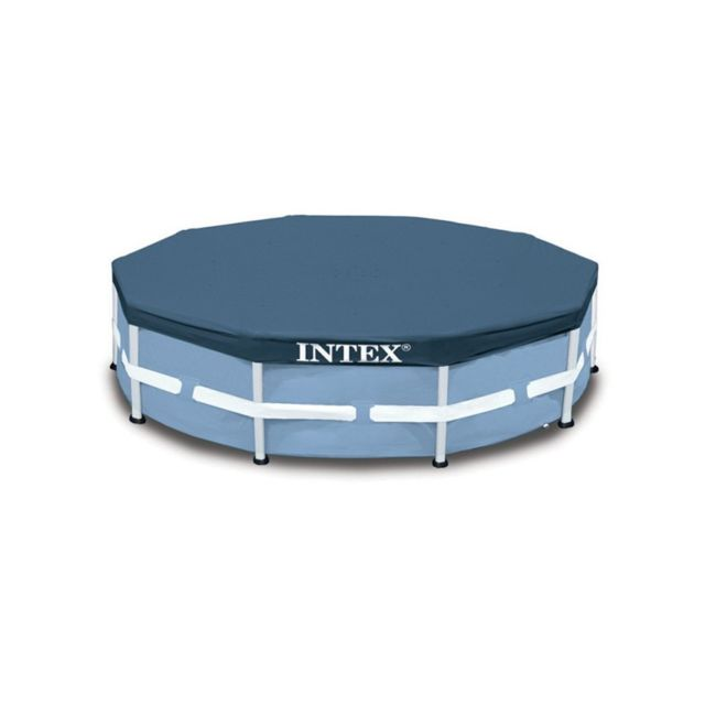 Intex b che de protection piscine tubulaire ronde 4 57 - Bache hivernage piscine intex ...