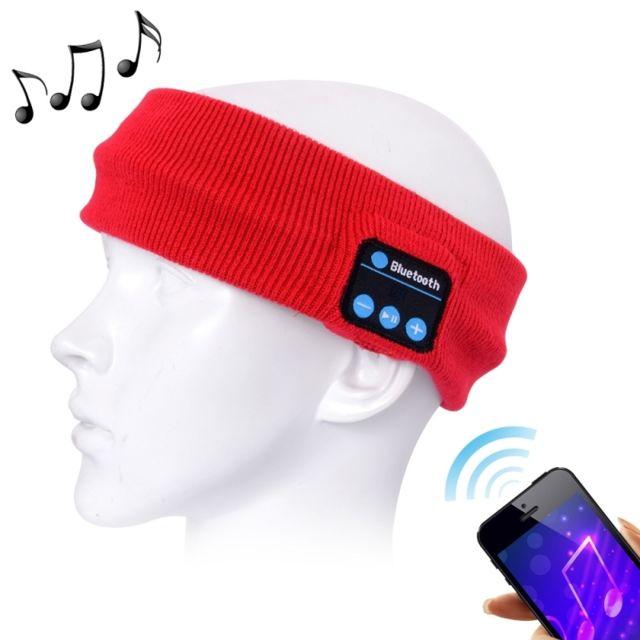 Wewoo - Bonnet Connecté rouge pour iPhone   Samsung et autres appareils Bluetooth  Tricoté Headsfree Sport 526c111e83d