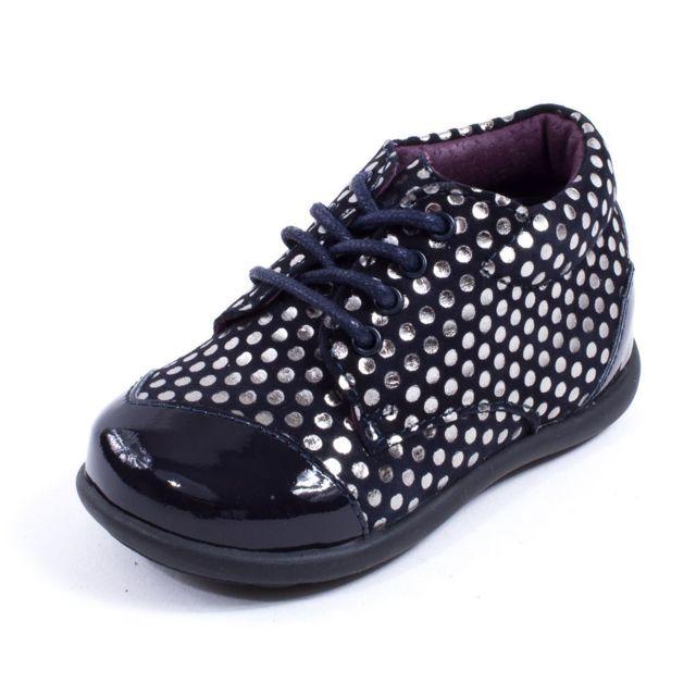 bae06d94538ff8 Mod8 - Chaussures bébé Mod 8 Bottillon bleu à lacets Lou 23 - pas ...