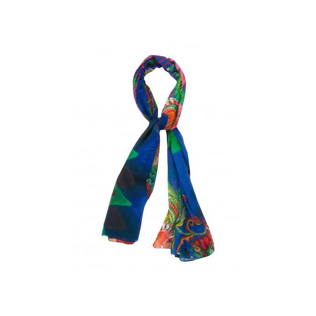 Desigual - Foulard Echarpe rectangle - Annelor navy - pas cher Achat ... 7d8884a687b