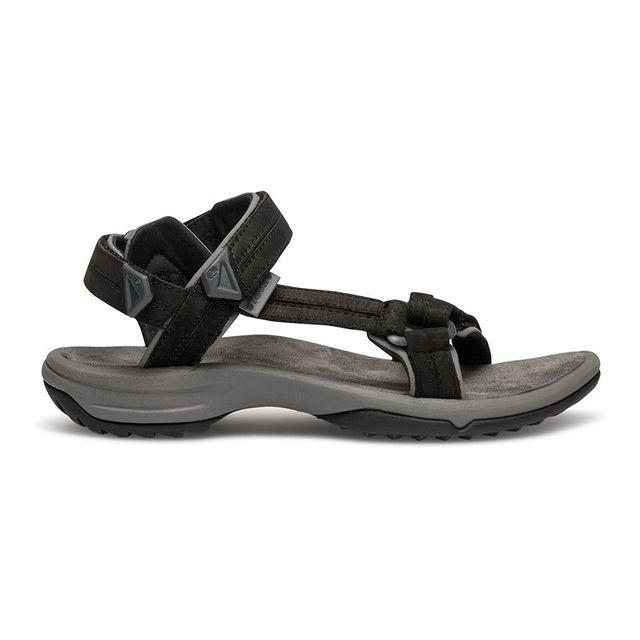 de3cd94279e Teva - Sandales Terra Fi Lite Leather noir femme - pas cher Achat   Vente  Sandales de marche - RueDuCommerce