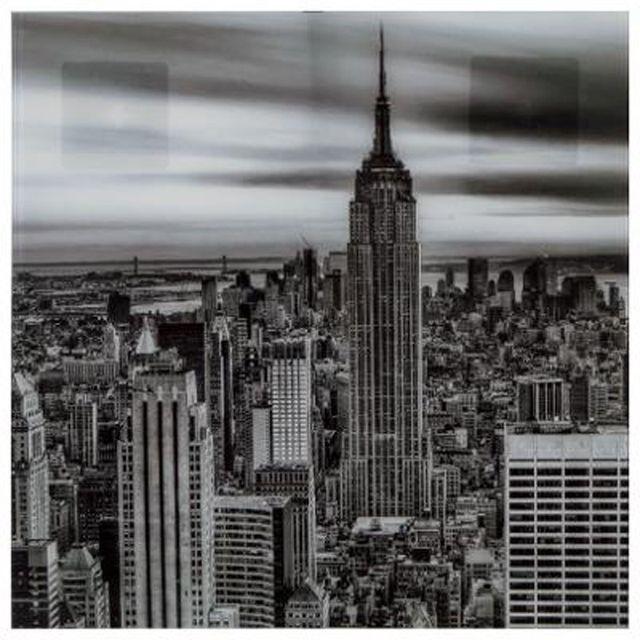 Paris Prix Cadre Déco En Verre New York 50x50cm Noir Blanc 0cm
