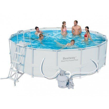 Bestway piscine tubulaire ronde 4 88 x 1 22 m avec for Piscine tubulaire 1 22