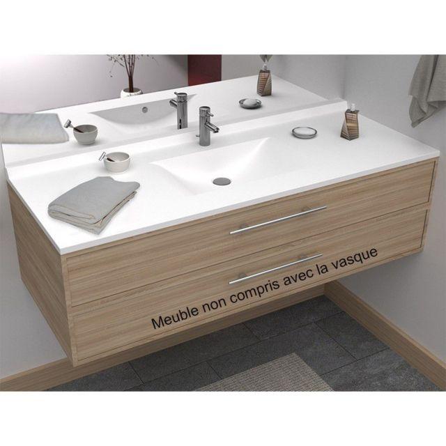 CREAZUR - Plan simple vasque centrée RÉSIPLAN - 120 cm