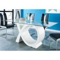 à laqué Table COMFORIUM 190 gris pas cm manger et blanc qUSzGMVp