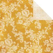 My Minds Eye - Perdu TrouvÉ Oliver 3 Double-face De Papier CartonnÉ 12 « X 12 »-JAUNE Floral
