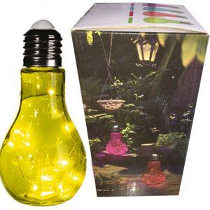 touslescadeaux grande lampe ampoule led design poser 23 cm vert en verre blanc pas. Black Bedroom Furniture Sets. Home Design Ideas