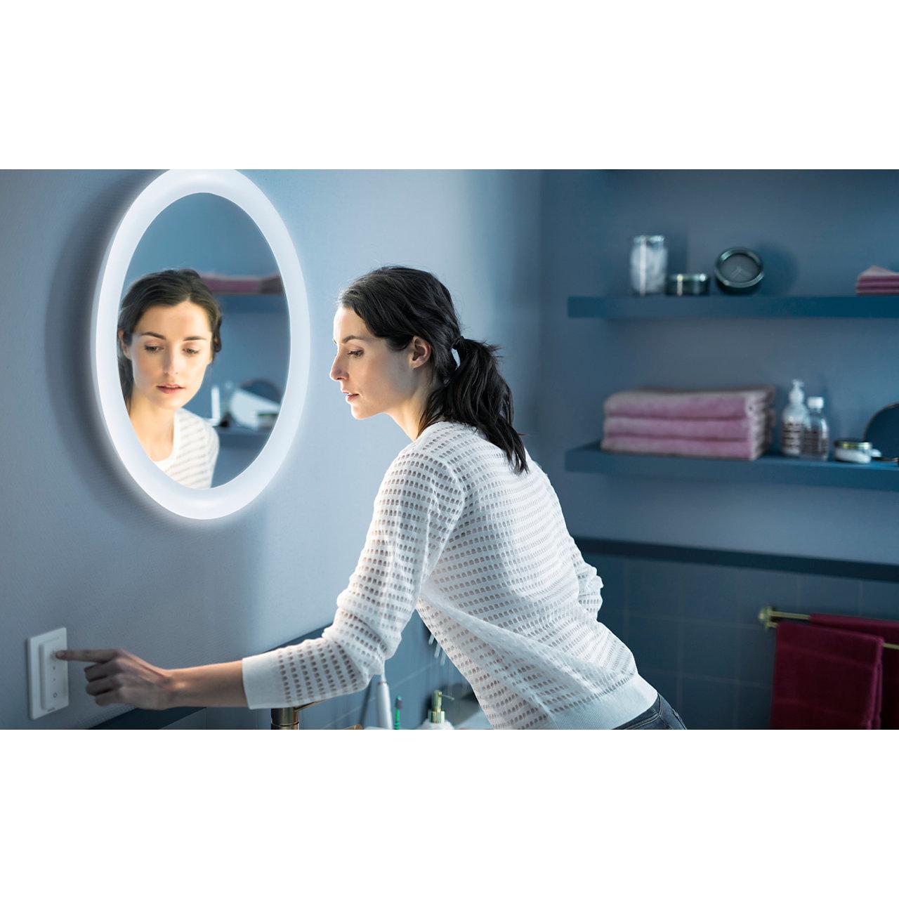 White Ambiance ADORE Miroir lumineux salle de Bain 40W