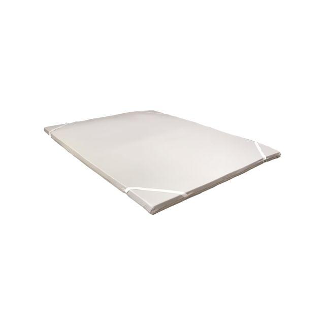 Greenbed SurMatelas Greenflex 140x190cm de 6cm d'épaisseur, avec une housse au tissus 3D pour une meilleure aération. Taille : 16