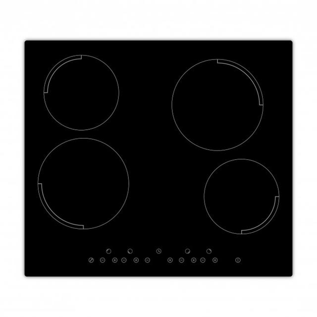 Exquisit Plaque de cuisson en vitrocéramique encastrable Ekc 625