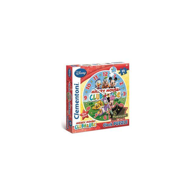 Clementoni Puzzle Horloge Mickey Mouse 96 pièces