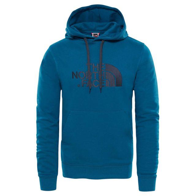 a30e78f88d63a The north face - Sweat Sweat Lite Drew Peak Bleu - pas cher Achat   Vente  Sweat homme - RueDuCommerce
