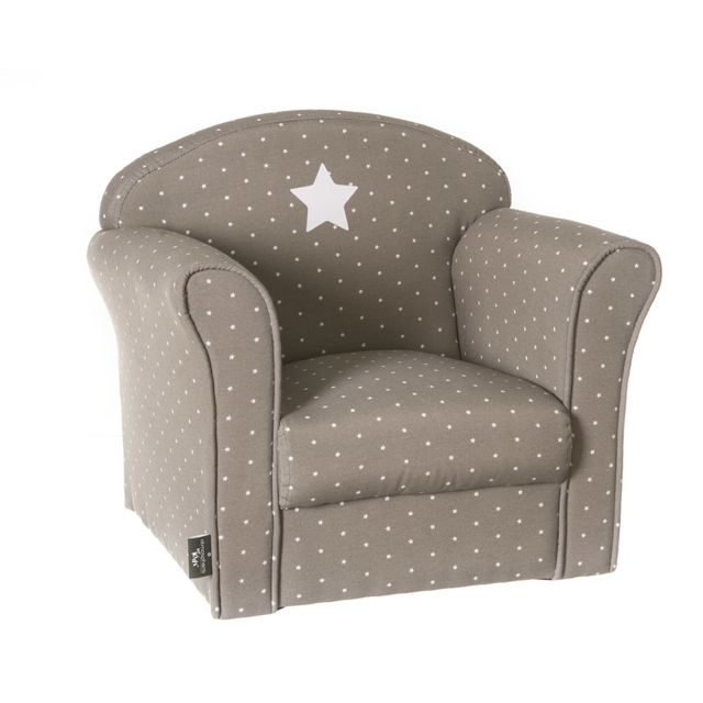 atmosphera fauteuil taupe pour enfant pas cher achat vente fauteuils rueducommerce. Black Bedroom Furniture Sets. Home Design Ideas