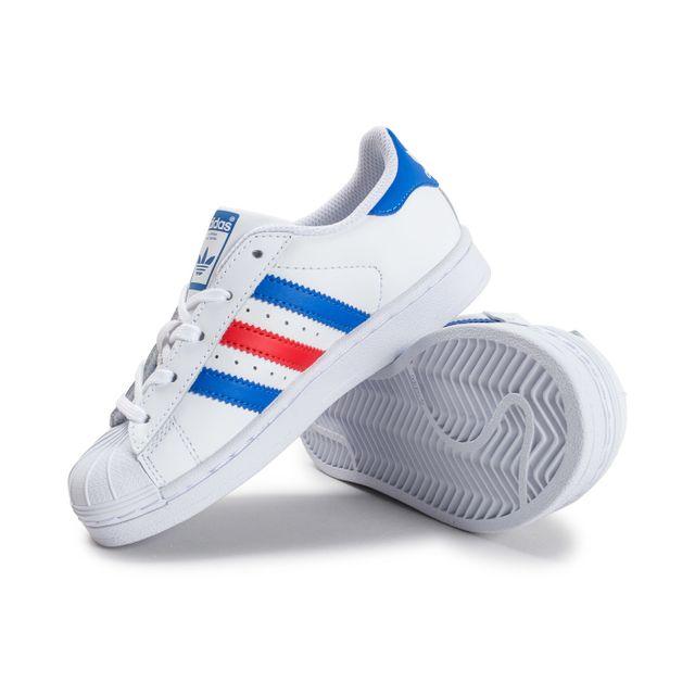 adidas superstar bleu blanc rouge