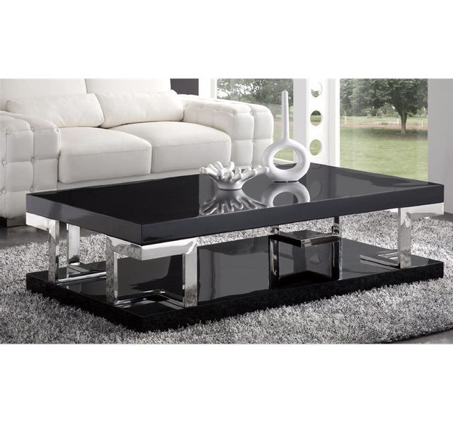 Chloe Haute Decoration Laquee Design Brillance Table Basse Noire lKJcTF13