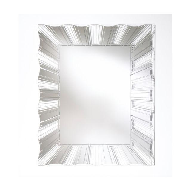 Deknudt Mirrors Miroir Contemporain Swell Modern Rectangulaire Naturel 90x112 cm