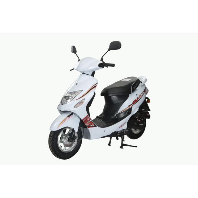 eurocka scooter gtr b 50cc 4t blanc achat vente scooters 50 pas cher rueducommerce. Black Bedroom Furniture Sets. Home Design Ideas