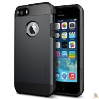 Spigen - Coque Tough Armor iPhone 5/5s smooth black