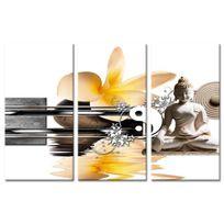 Aucune - Tableau Déco Triptyque Zen Plénitude - 120x80 cm