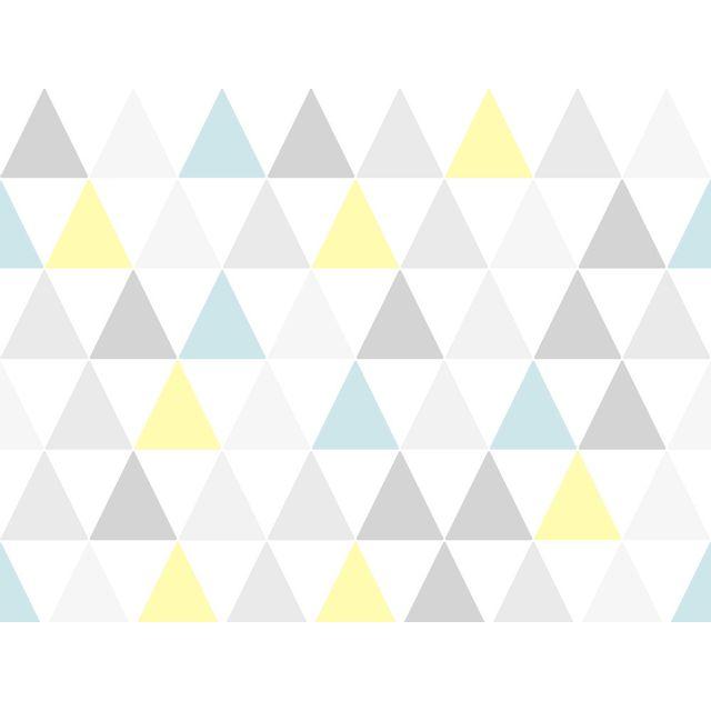 Graham And Brown Papier Peint Vinyle Graine Intisse Motif Triangle