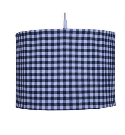 Bink Bedding Suspension à carreaux bleus