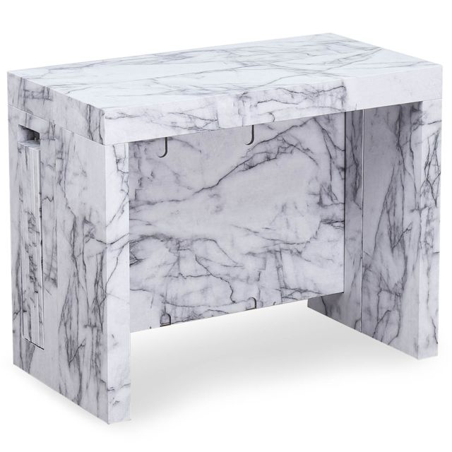 MENZZO Table console extensible Chay Effet Marbre