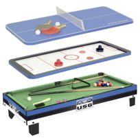 Cdts - Table De Jeux 3 En 1