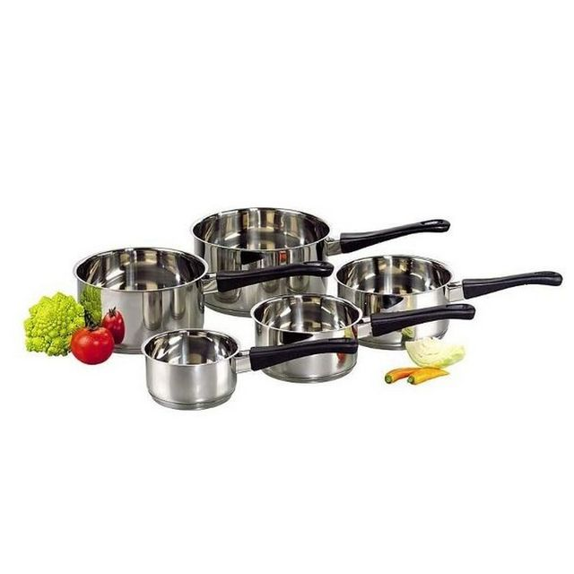 BAUMALU - série de 5 casseroles inox 12 à 20 cm - 340560