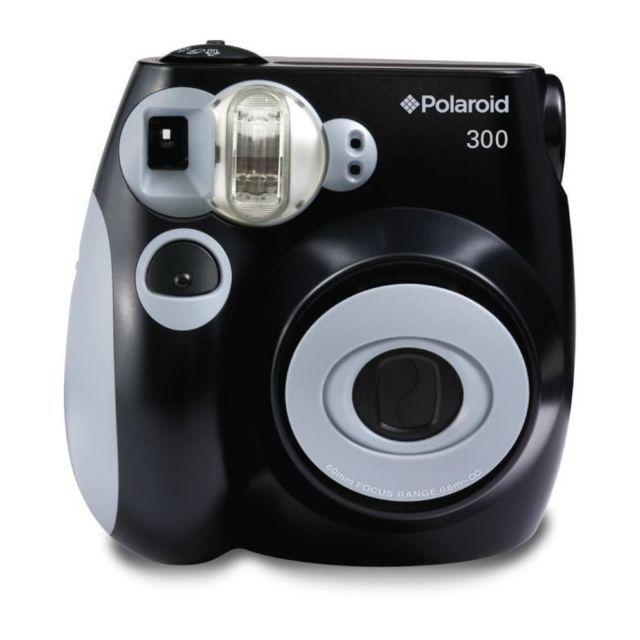 polaroid pic300 noir appareil photo instantan compact pas cher achat vente appareil compact. Black Bedroom Furniture Sets. Home Design Ideas