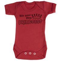 fddb25f80e353 Zarlivia Clothing - Née pour être Princesse Body bébé 0-3 Mois Rouge