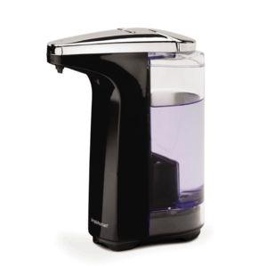 simplehuman distributeur de savon automatique compact rechargeable savon liquide noir. Black Bedroom Furniture Sets. Home Design Ideas