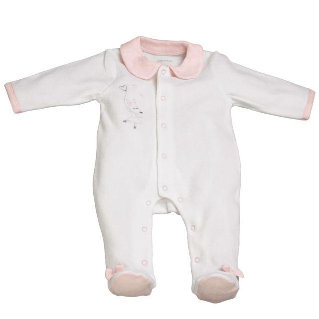 Nos packs de l expert. Sauthon - Pyjama bébé blanc naissance Lilibelle fb79c6d1ed3