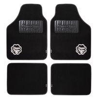Chupachups - Chp1500BK - 4 tapis de sol moquette Chupa Chups parfumes coloris noir/logo blanc