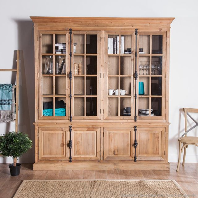 mathilde et pauline biblioth que en bois avec portes. Black Bedroom Furniture Sets. Home Design Ideas