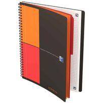 Oxford International - cahier activebook connect à reliure intégrale 160 pages format tablette 17,6x25 cm, 80g blanc, quadrillé 5x5