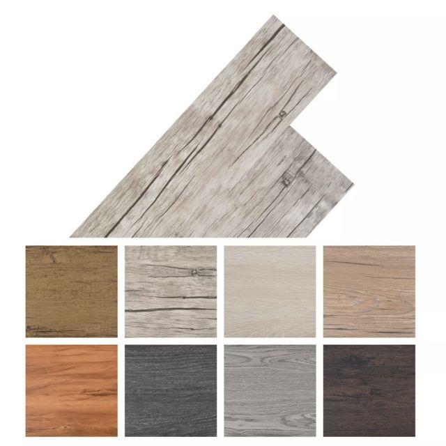 Vidaxl Planche de plancher Pvc autoadhésif 36 pcs 5,02 m² Gris clair   Gris